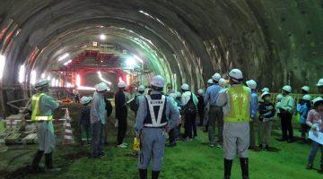金沢東部環状道路「神谷内トンネル(Ⅱ期線)」【トンネル内部の見学】